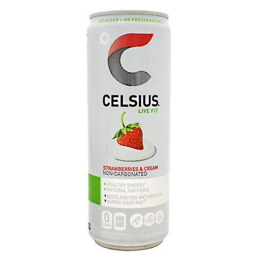 Celsius Natural Celsius - Strawberries and Cream - 24 Cans - 852481007197
