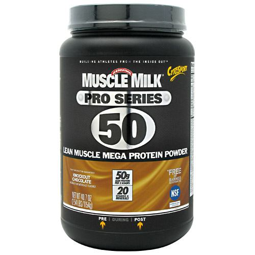 Cytosport Muscle Milk Pro Series - Knockout Chocolate - 2.54 lb - 660726534205