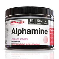 PEScience Alphamine - Cotton Candy - 84 Servings - 040232199752