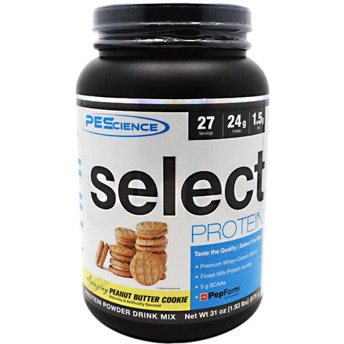 PEScience Select Protein - Peanut Butter Cookie - 27 Servings - 040232543098