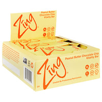 Zing Vitality Bar - Peanut Butter Chocolate Chip - 12 Bars - 855531002111
