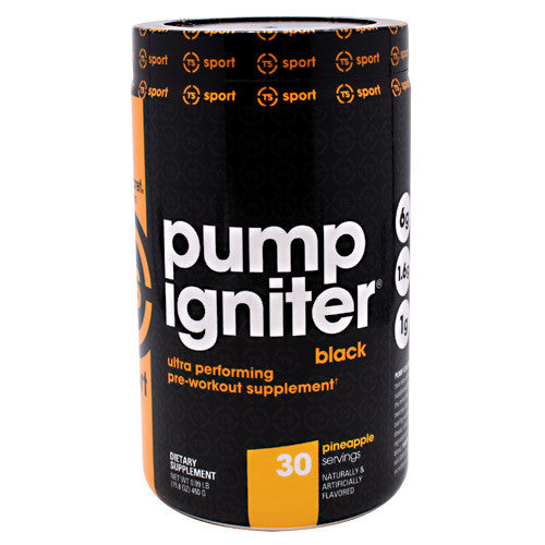 Top Secret Nutrition Black Pump Igniter Black - Pineapple - 30 Servings - 811226021935