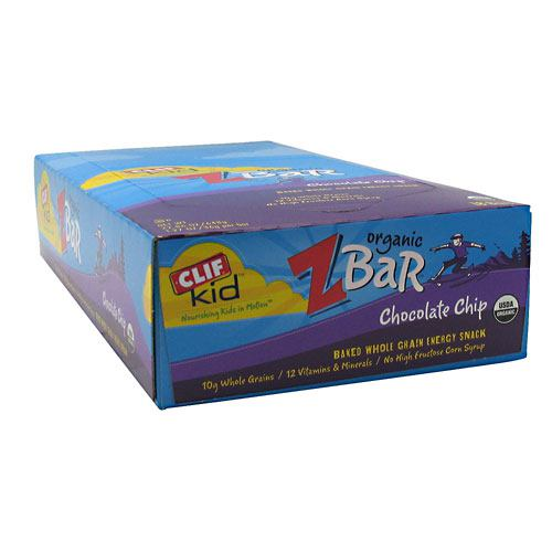 Clif Bar Kid Organic Zbar - Chocolate Chip - 18 Bars - 722252191847