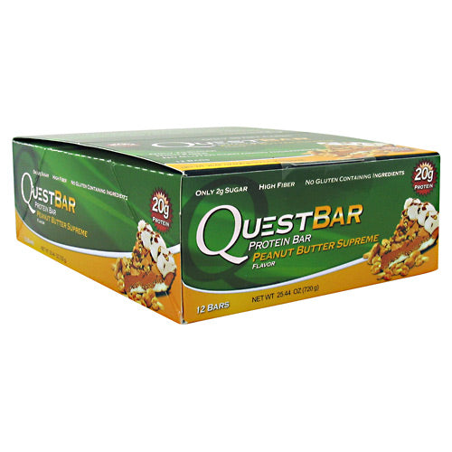 Quest Nutrition Quest Protein Bar - Peanut Butter Supreme - 12 Bars - 888849000623