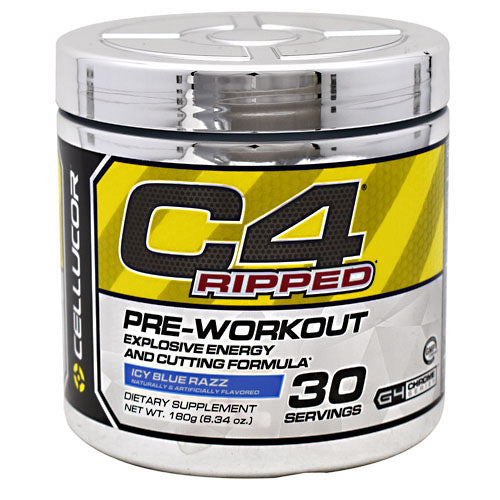 Cellucor Chrome Series C4 Ripped - Icy Blue Razz - 30 Servings - 810390027507