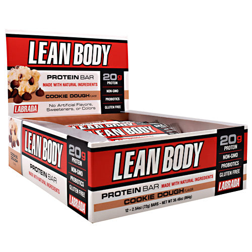 Labrada Nutrition Lean Body Protein Bar - Cookie Dough - 12 Bars - 710779444881