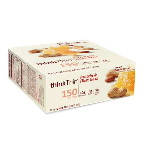 Think Products Think Thin Lean - Honey Drizzle Peanut - 10 Bars - 753656710914