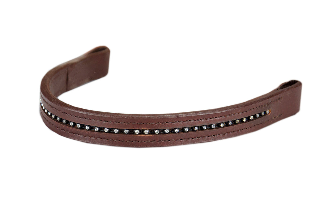 Derby Browband with Clear Crystals