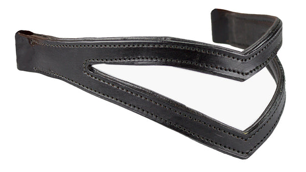 Double V Padded Browband for English Bridles by Derby