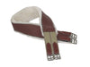 Removable Fleece Lined Overlay Leather English Girth w/ D Ring