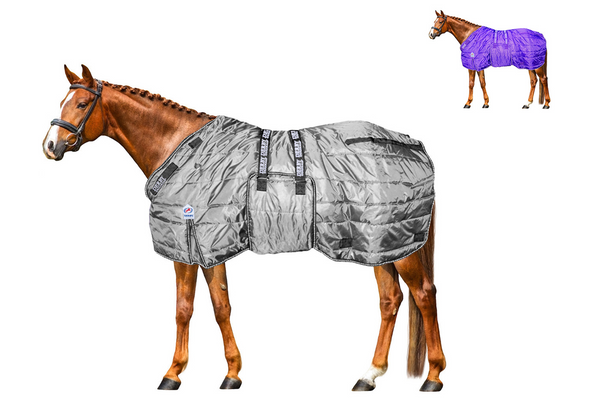 Derby Originals Nordic Tough Closed Front 420D Water Resistant Reflective Winter Horse Stable Blanket 200g Medium Weight