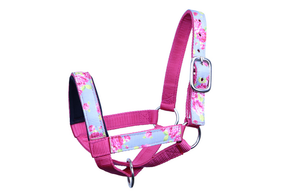 Derby Originals Patterned Double Layer Nylon Figure-8 Cow Halters Multiple Colors and Sizes