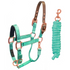 products/2Safety_Reflective_Horse_Halter_Rose_Gold_Turquoise_Main_30-3010.png