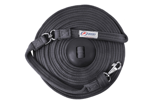 Derby Originals Premium Softgrip 24' and 34' Cotton Swivel Lunge Lines with Rubber Stopper