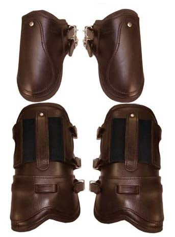 Leather Galloping & Ankle Boots Neoprene Lined Set Super Sale
