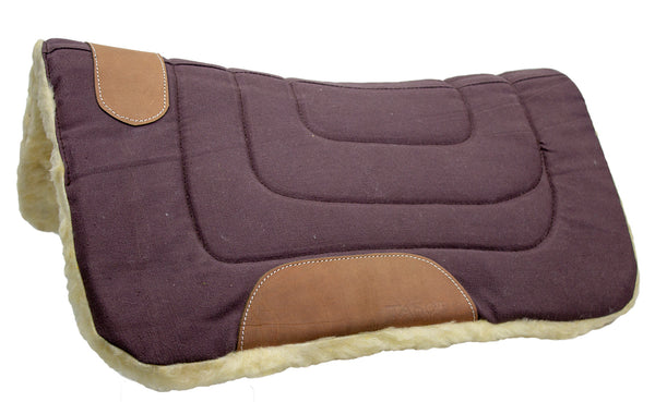 Mini Contour Cut Canvas Western Saddle Pad with Fleece Lining by Tahoe Tack - Size 19