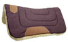 "Pony Contour Cut Canvas Western Saddle Pad with Fleece Lining by Tahoe Tack - Size 23"" X 23"""