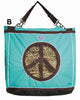 Derby Originals Top Load Peace Sign Hanging Horse Hay Bag with 6 Month Warranty