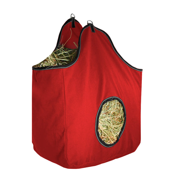 Derby Originals Large D-Ring Canvas Horse Hay Bag with 6 Month Warranty and Extra Wide Gusset