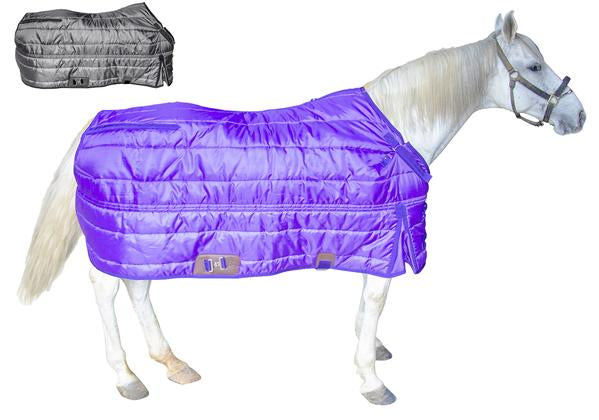 Derby Originals Windstorm Series Premium Horse and Draft Winter Open Front West Style Stable Blanket with 420D Breathable Nylon Exterior - Medium Weight 200g Polyfil Insulation