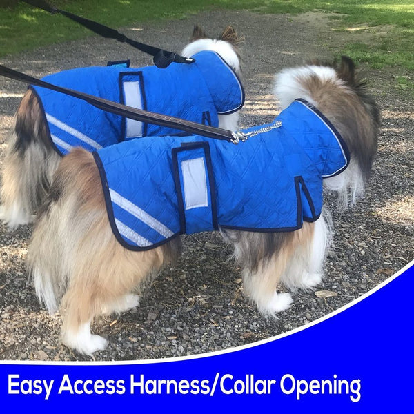 Derby Originals Premium Reflective Hydro Cooling Jacket with Adjustable Belly Band & Harness Compatible Opening