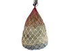 "Derby Originals 42"" Classic Patriotic Slow Feed Poly Rope Hanging Hay Net with 2x2"" Holes"