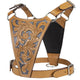 Premium Floral Tooled Gaucho Leather Padded Dog Pulling Harness