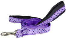 "Padded Double Handle Overlay Dog Leash Warranted Snap 1"" X 4'"