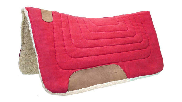 Tahoe Tack Contour Cut Canvas Saddle Pad 3 Layers Canvas Wool Felt and Fleece Comfort Full Horse Size 32