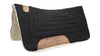 "Tahoe Tack Contour Cut Canvas Saddle Pad 3 Layers Canvas Wool Felt and Fleece Comfort Full Horse Size 32"" X 36"""