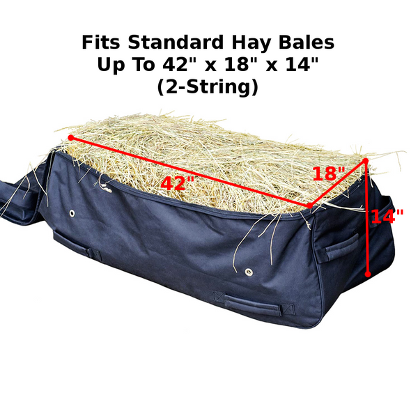 Derby Originals Waterproof Heavy Duty Rolling Hay Bale Bag with One Year Warranty - Ventilated to Maintain Hay Freshness