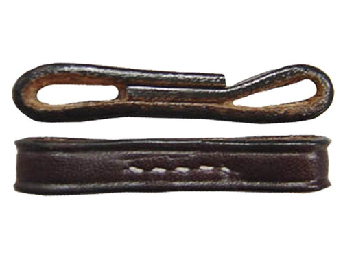 Paris Tack USA Leather Full Cheek Snaffle Bit Loops - Pair