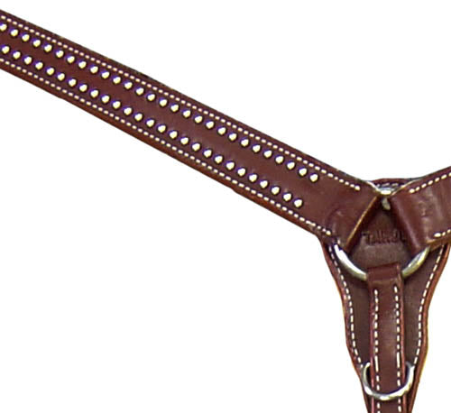 Tahoe Red River Breast Collar with Spots USA Leather