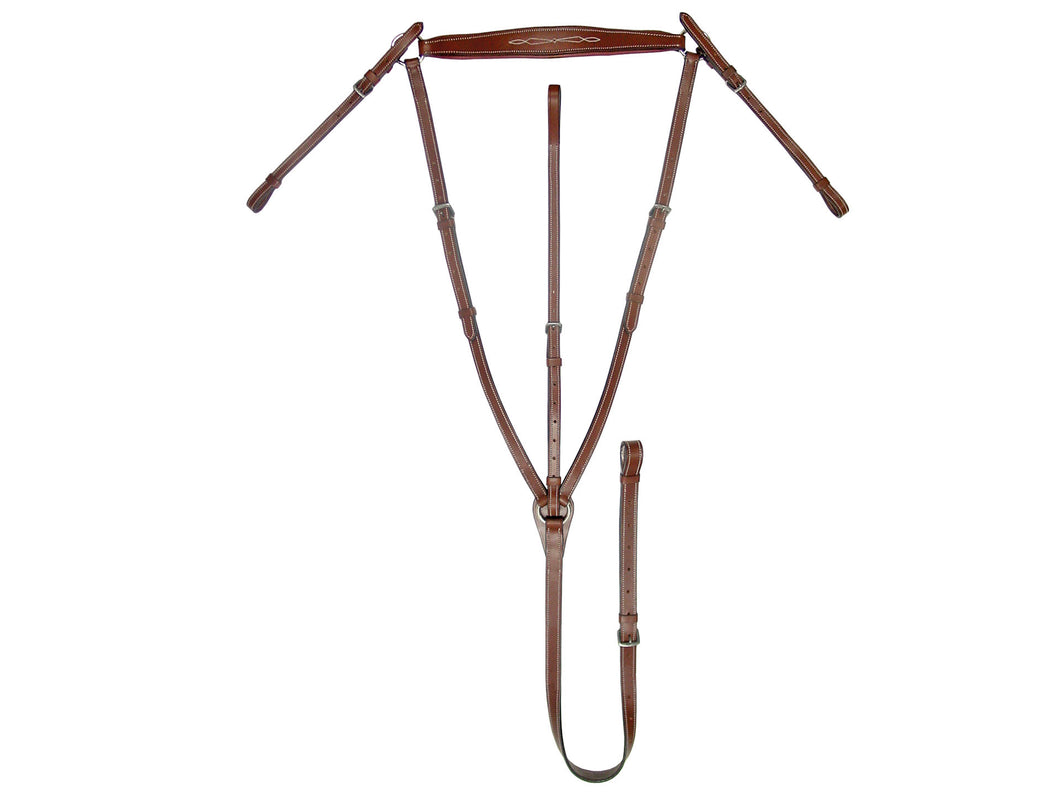 Paris Tack Fancy Stitch Padded Standing Adjustable Breastplate