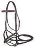 Paris Tack Double Fancy Stitch Figure 8 Bridle with Rubber Reins