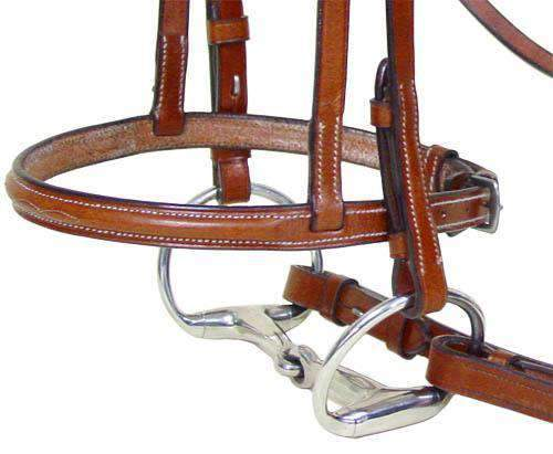 Paris Tack Square Raised Fancy Stitched Bridle with Laced Reins