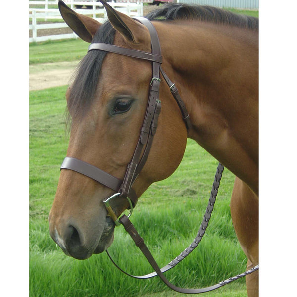 Paris Tack English Hunt Bridle with 3/4