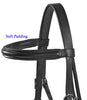 Paris Tack Dressage Crank Bridle with Flash and Rubber Reins