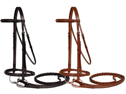 Paris Tack Fancy Stitched Padded Bridles with Laced Reins