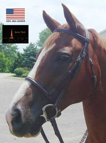 Opulent Series Raised Padded Bridles Paris Tack USA Leather