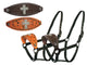 Tahoe Silverado Series Crystal Cross Nylon Bronc Halters 50% OFF