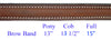 Plain Raised English Browband with White Stitiching
