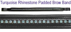 Padded Browband with Rhinestone for English Bridles