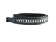 USA Leather Opulent Padded Crystal Inlay English Brow Band
