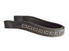 USA Leather Crystal Inlayed Contoured English Show Browband