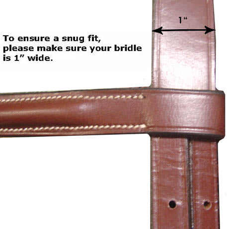 USA Leather Fancy Stitch English Show Browband - Opulent Series