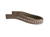 USA Leather Crystal Inlay Padded Show Brow Band Opulent Series