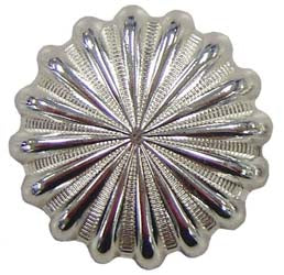 Shiny Silver Parachute Conchos with Screw Back