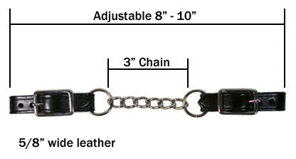 Single Chain Curb Straps