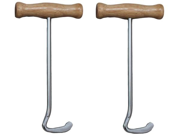 Derby Boot Pulls with Wood Handles Pair